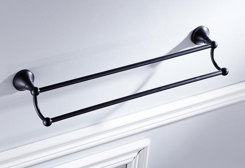 black double towel bar 1