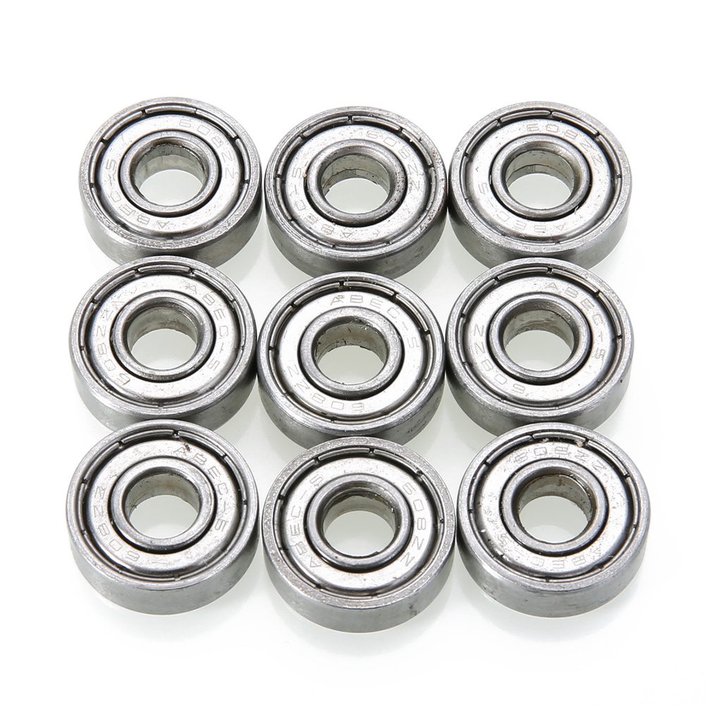 10pcs 608zz Deep Groove Bearing Steel Ball Bearings With Grease For Skateboard Roller Blade Scooter Inline Skating Mayitr цена