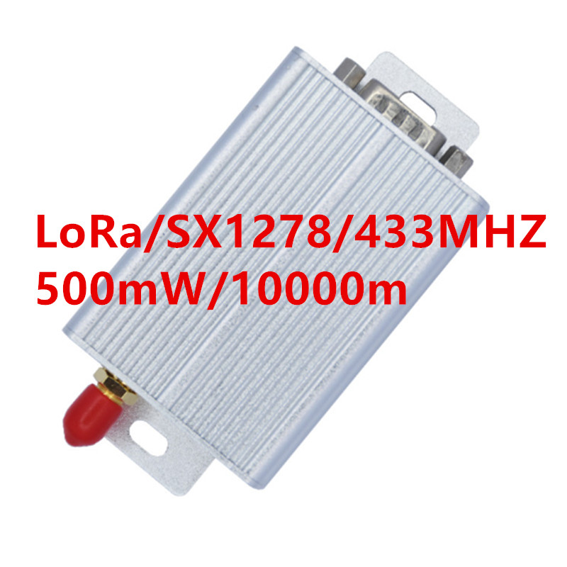 Cep telefonları ve Telekomünikasyon Ürünleri'ten Sabit Kablosuz Terminaller'de 500mW lora uzun menzilli uart 433 mhz/458 mhz/470 mhz iot lora veri verici/alıcı lora rs232 ve rs485 kablosuz alıcı title=