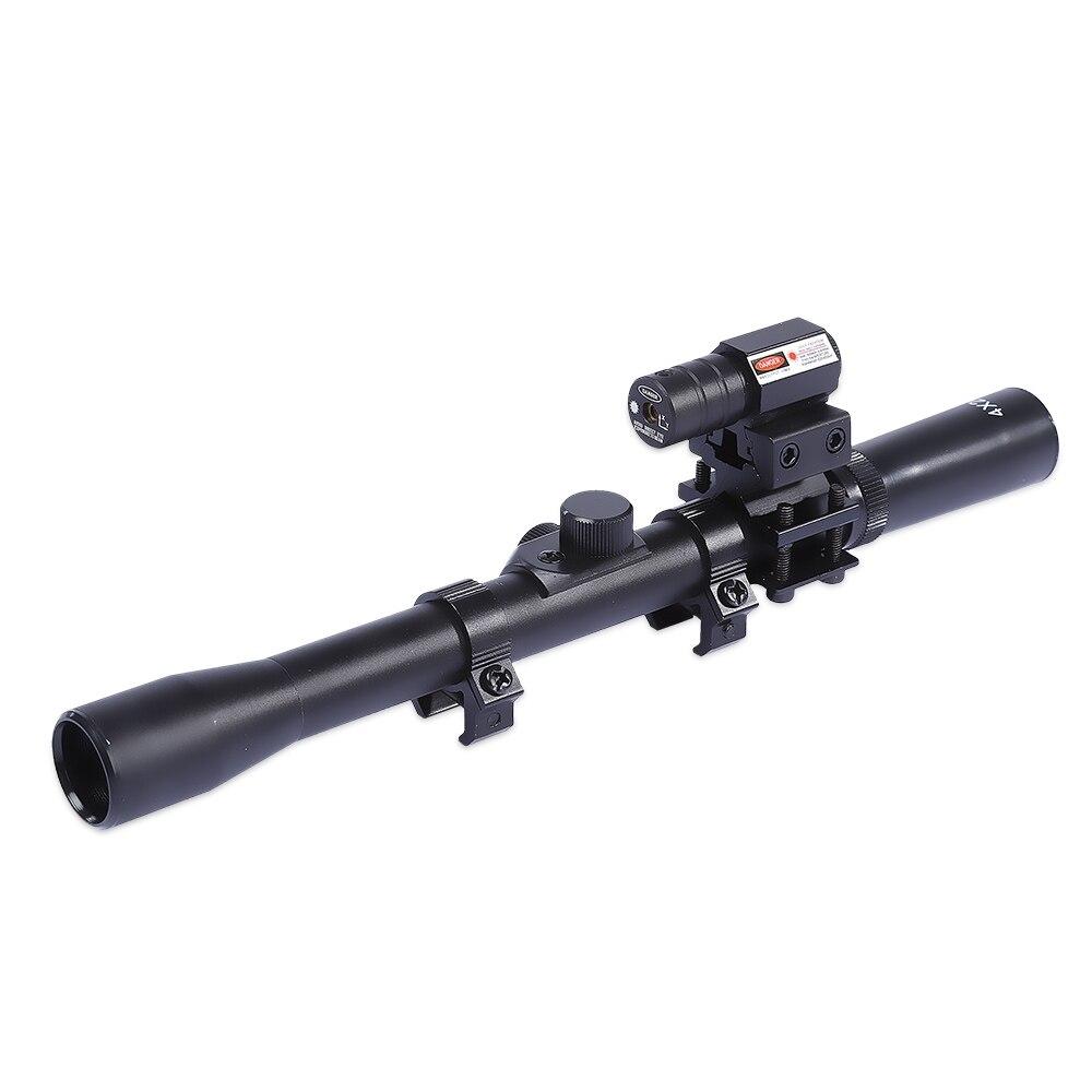 Цена за 11 мм или 20 мм железнодорожных 4x20 Водонепроницаемость Инфракрасный Лазерный Прицел Комплект для Наружной Охоты