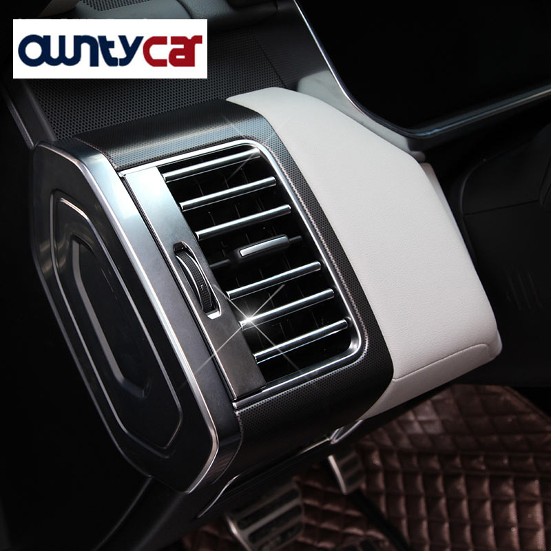 22pcs/set ABS Chrome Interior Accessories Air Conditioning Outlet Strips Trim For Land Rover Range Rover Sport 2014-2017 RRSport luxury interior molding for land rover discovery 4 lr4 abs dark wood grain side air conditioning vent cover trim 2012