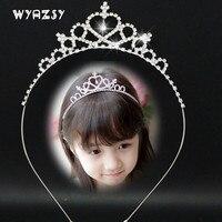 Fashion Crystal Tiara Hair Band Kid Girl Bridal Princess Prom Crown Kid  Girl Bridal Princess Prom Crown Headband Accessories 0761e8127e4d