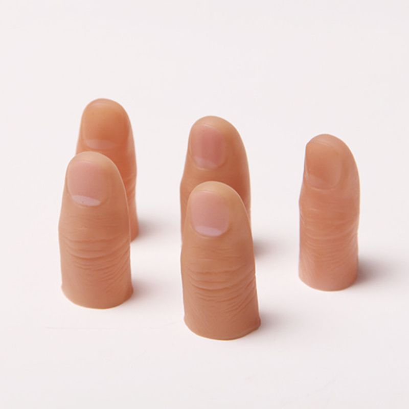 20pcs Hard Thumb Tip Finger Fake Magic Trick Close Up Vanish Appearing Finger Trick Props Toy Funny Prank Party 81203