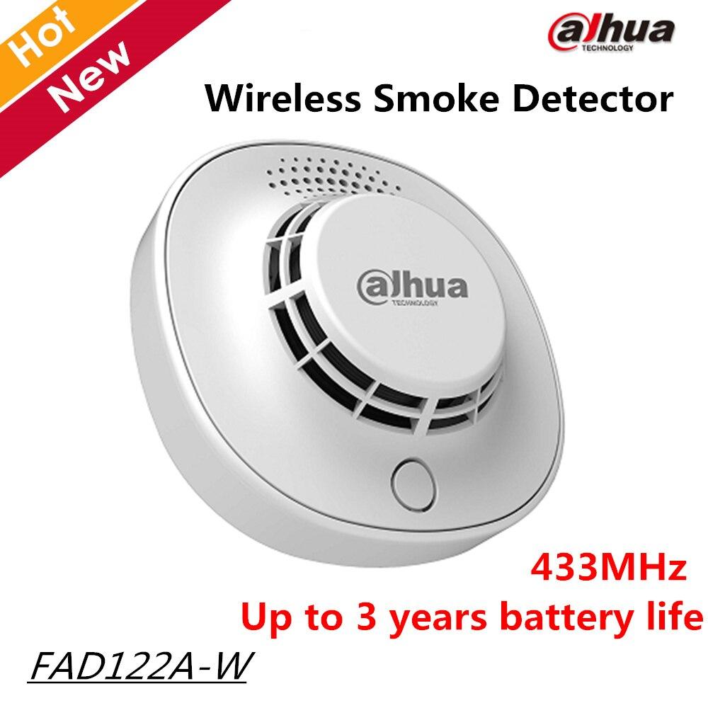 Dahua Wireless Smoke Detector FAD122A-W High detection sensitivity 433MHz 3 years battery life for intercom sysytems