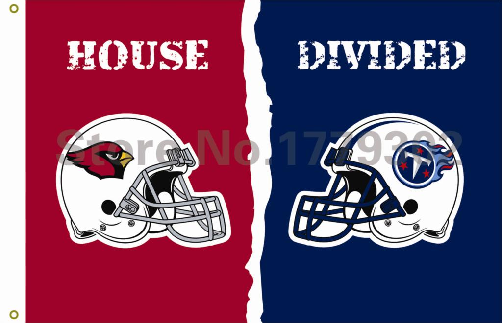 Arizona Cardinals Tennessee Titans helmets House Divided Flag3ft x 5ft