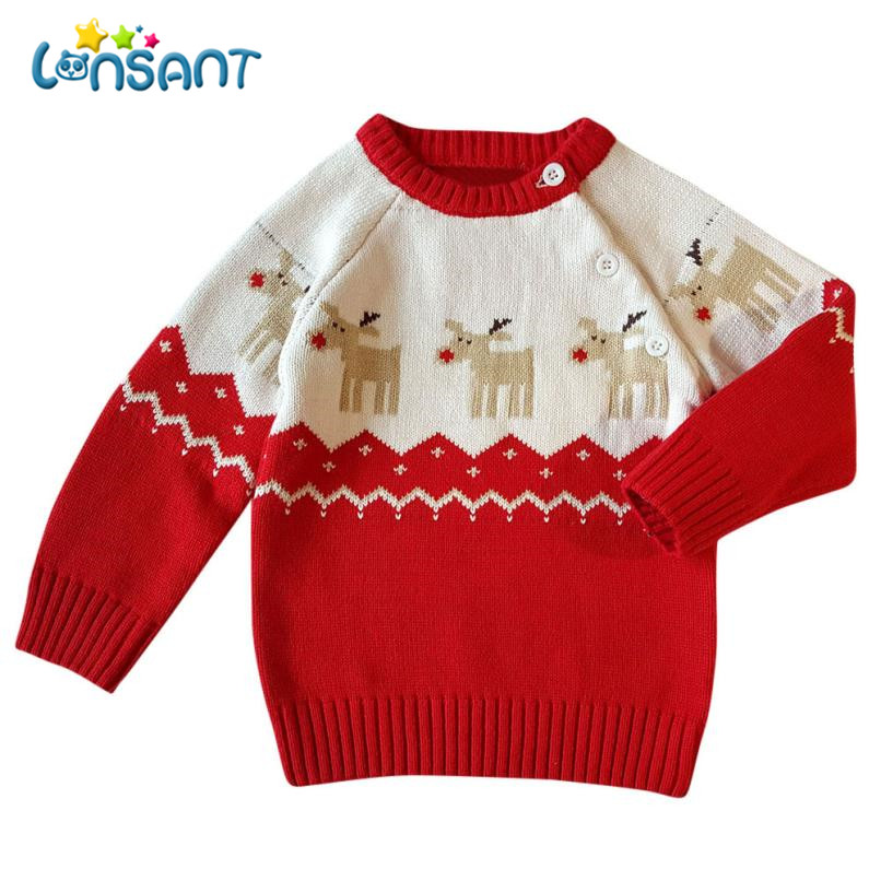LONSANT Boys Coat 2018 Christmas Cardigan Sweater Fashion Knitted Cotton Vestido Infantil Baby Girl Winter Clothes Dropshipping