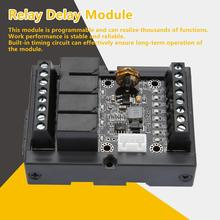 PLC Industrial Relay Module FX1N-10MR Programmable Relay Module DC 12V Relay Delay Module with Shell