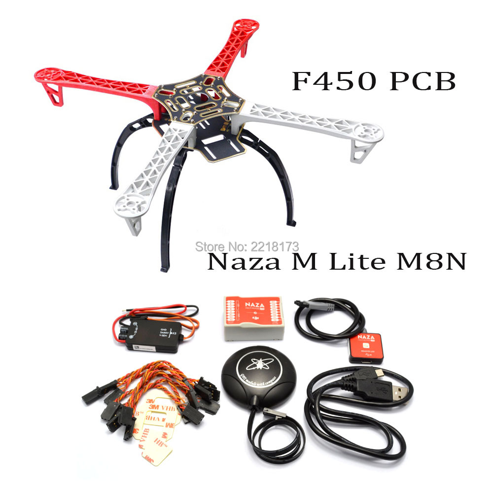 F450 / S500 / X500 500mm Quadcopter frame kit with landing gear & Naza M Lite Flight Controller Board and GPS Combo for FPV Quad f450 450mm pcb version quadcopter rack frame kit naza m lite flight controller board