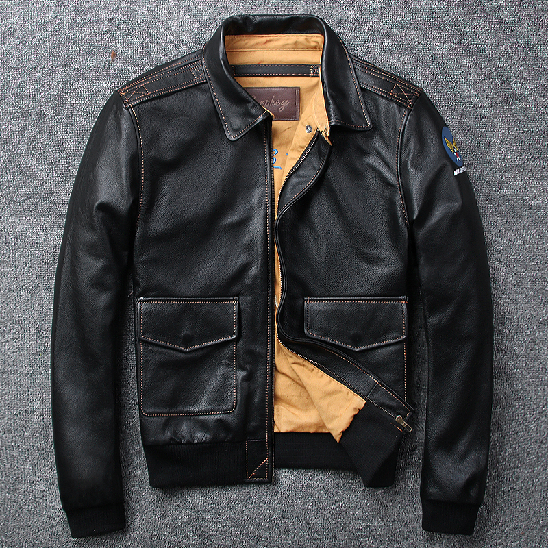Großhandel leather jacket pilot Gallery - Billig kaufen leather jacket pilot  Partien bei Aliexpress.com 277eec0fa7
