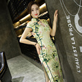 New Arrival Chinese Style Lady Qipao Traditional Cheongsam Vintage Dress S-XXL