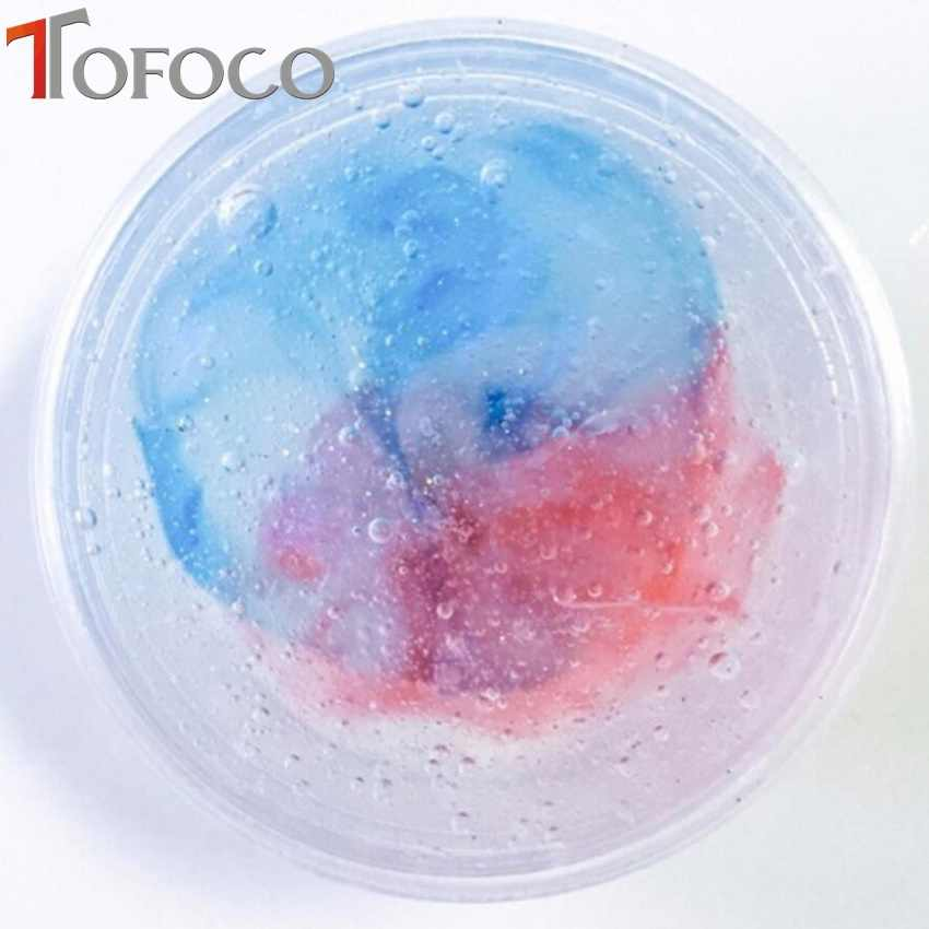 TOFOCO Colorful Exquisite Fishbowl Beads Mermaid Slime Crystal Mud Cotton Clay Plasticine DIY Decompression Toys Box-packed