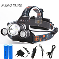 9000Lm CREE XML T6+2R5 LED Headlight Headlamp Head Lamp Light 4-mode torch +2x18650 battery+EU/US Car charger for fishing Lights