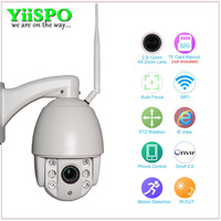 YiiSPO Wireless PTZ Dome IP Camera Outdoor 720P 1080P FULL HD 4X Zoom CCTV Security Video
