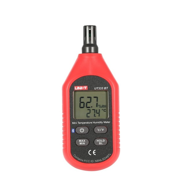 UNI-T UT333BT Bluetooth Thermometer Hygrometer Digital LCD Air Temperature Humidity Meter Electronic Moisture Meter Measuring