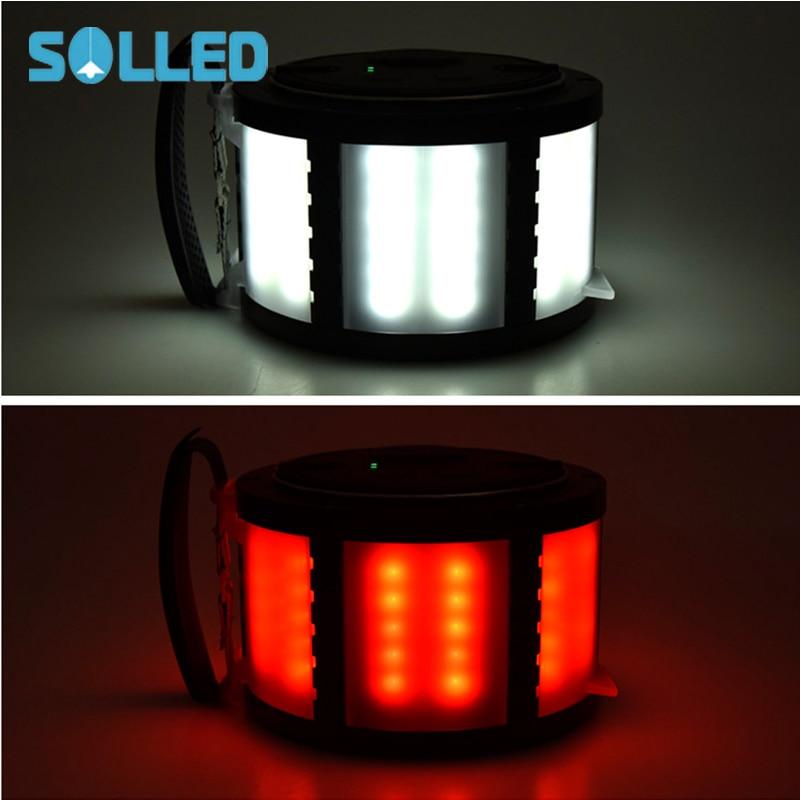 SOL LED L2 USB prise de charge LED lampe de Camping lampe de tente d'urgence lampe d'avertissement pour les activités de plein air