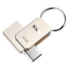 SSK SFD270 16 GB 32 GB 64G USB-C type-C OTG флеш-накопитель USB 3,0 флеш-накопитель смартфон память мини-usb-накопитель