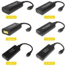 Adaptateur de chargeur cc pour Lenovo Hp Asus, dimensions 7.4x5.0, 7.9x5.5mm, adaptateur femelle vers USB Type C mâle