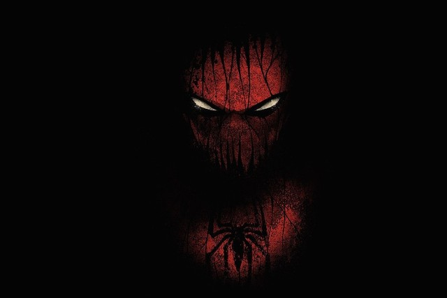 Black Red Spider Man Artwork Marvel Comics Black