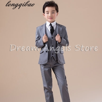 84d12b94c 5pcs High quality 2017 new fashion baby boys kids blazers boy suit for weddings  prom formal Silvery gray dress wedding boy suits - aliexpress.com - imall.  ...