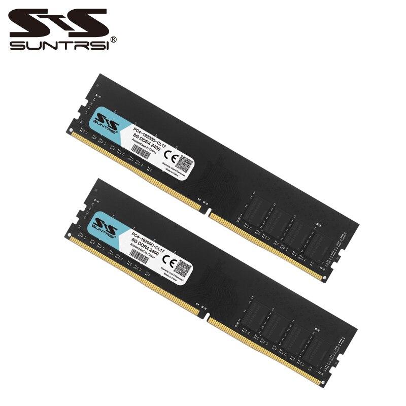 Suntrsi DDR4 8 gb Bureau Mémoire RAM 2133 mhz 2400 mhz 100% Nouveau Memoria RAM Bâton DDR Mémoire