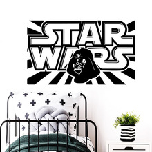 Cartoon star wars Wall Art Decal Stickers Pvc Material For Kids Rooms Creative Living Room adesivo de parede