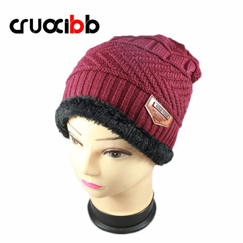 CRUOXIBB Winter Hat Unisex Skullies Women Men Full Wool Warm Caps High Quality Ski Cap Knitted Beanies hat Bonnet Dad Hat skullies