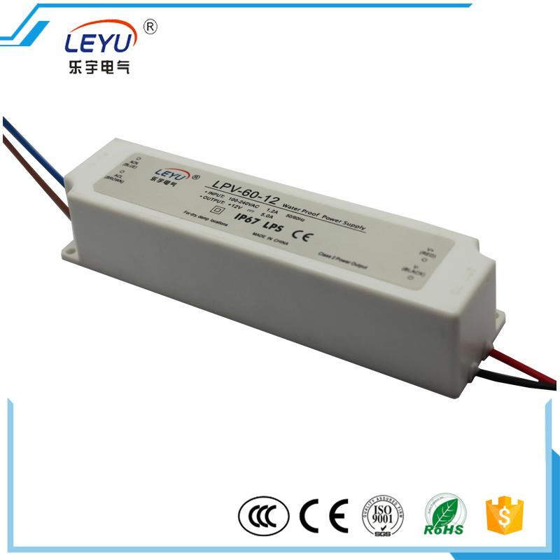 LPV-60-12 led driver waterproof IP67 LED regulated power supply 60w 12V meanwell 12v 60w ul certificated lpv series ip67 waterproof power supply 90 264v ac to 12v dc