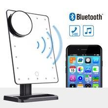 Altavoz Bluetooth pantalla táctil LED cosmética espejo con 10X lupa 20 LED iluminado cosmética Mesa ajustable de la vanidad espejo
