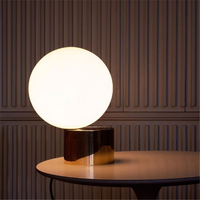 Nordic Post modern Minimalist Reading Lamp Bedroom Metal Glass Ball Decorative Lamp Free Shipping
