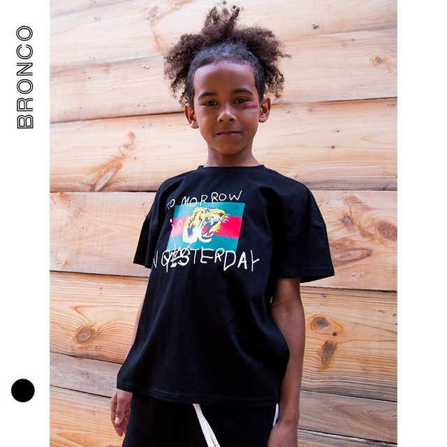 9af0f8576 Online Shop Summer Boys T Shirt Tiger Print Big Boys Clothes Sport ...