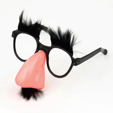 SDFC 1Pcs Fake Nose Eyebrow Mustache  Clown Fancy Dress up Costume Props Fun Party Favor Glasses