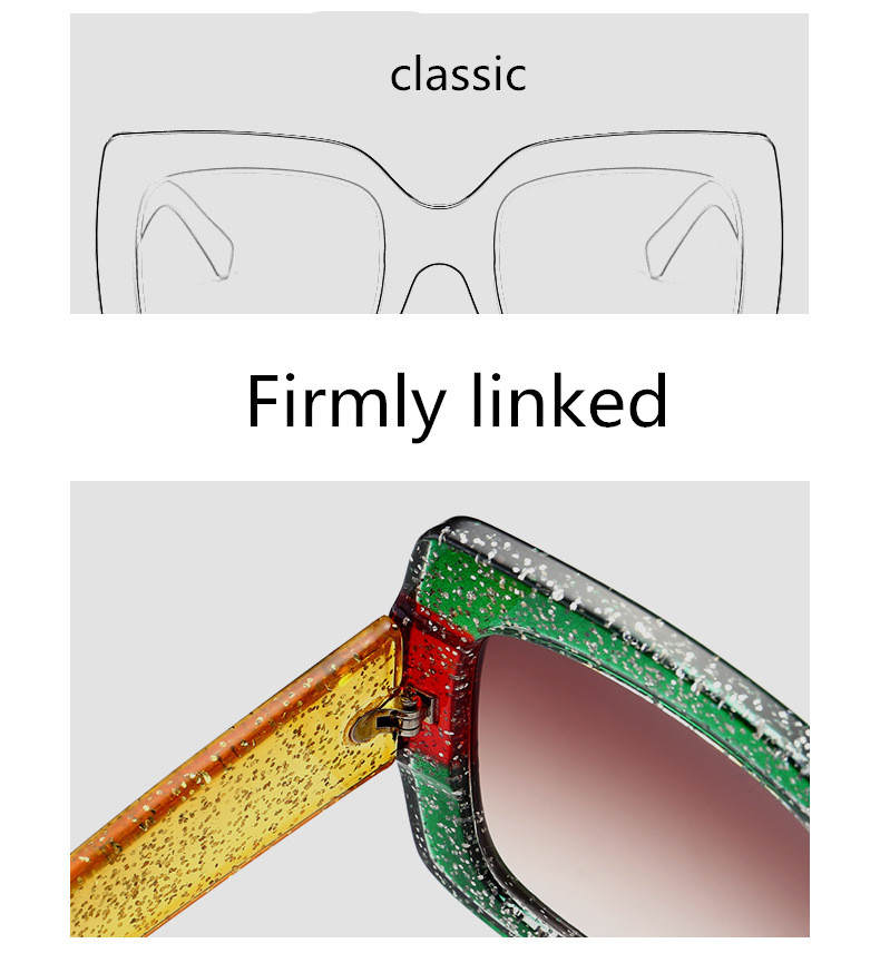 ASUOP2018 new retro large frame fashion sunglasses luxury classic men driving glasses ladies travel color UV400 cat eye goggles  (10)