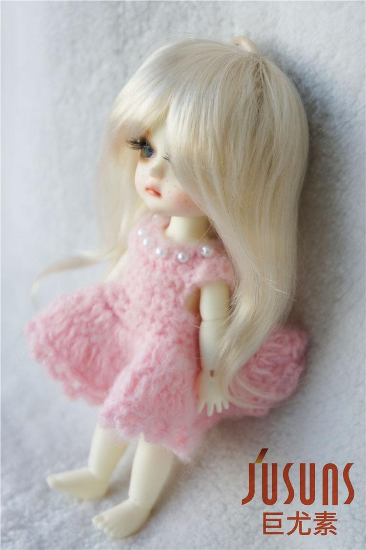 JD176 1/8 sintetis makiar anak patung wig panjang updo pigtail rambut - Anak patung dan aksesori - Foto 2