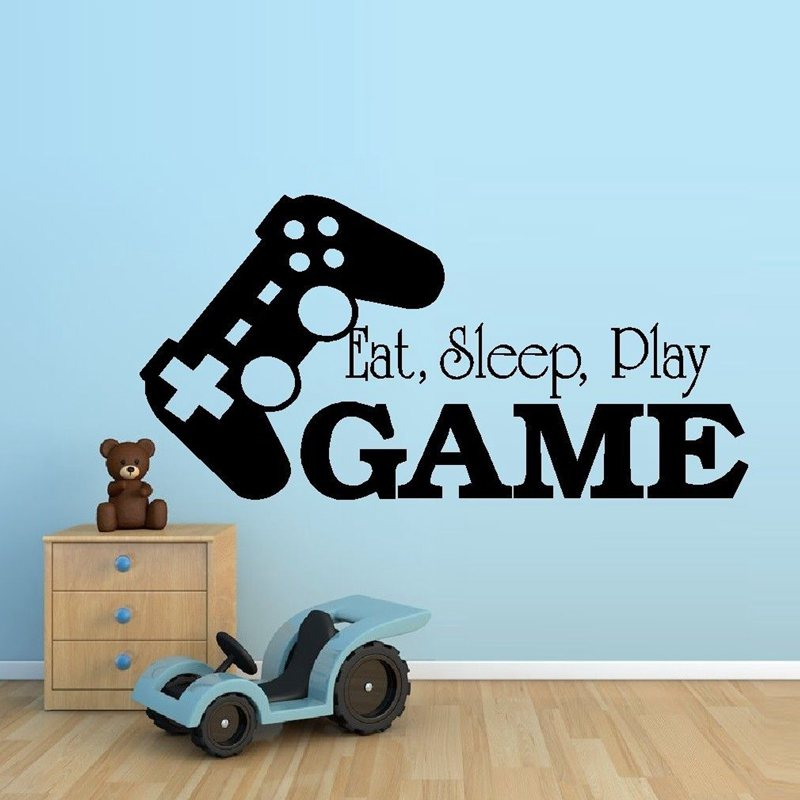 Video Spiel Aufkleber Spielen Aufkleber Gaming Poster Gamer Vinyl  Wandtattoos Parede Decor Wandbild 19 Farbe Wu0026auml