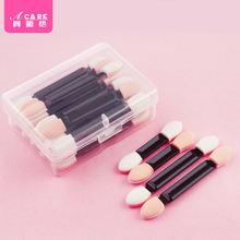 Acare 20pcs Eyeshadow Brush Applicator Sponge Double Ended Make Up Supplies Portable Cosmetic Eyeliner Lip Tool For Lady