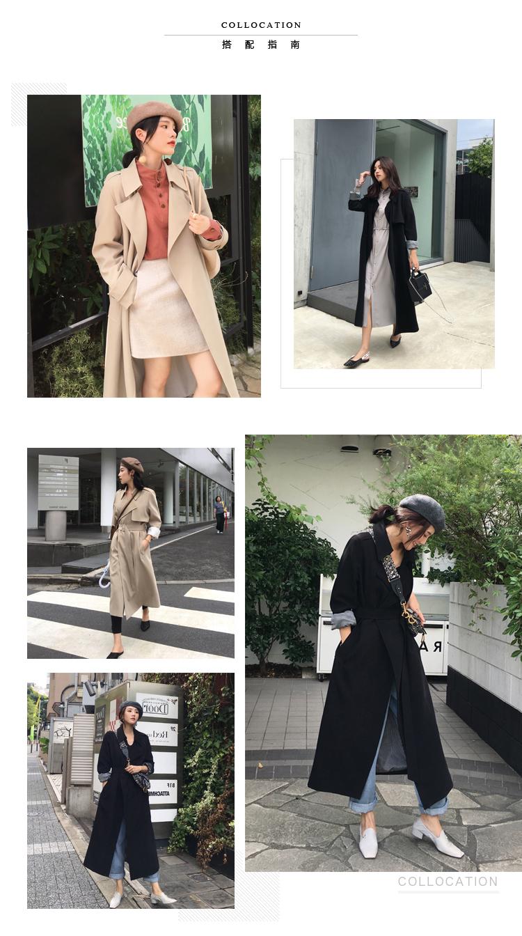 Spring Autumn-Long-Women's-Loose-Coat