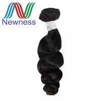 Newness Hair Products Raw Indian Virgin Hair Loose Wave Bundles Natural Color 100% Human Hair Weaving No Tangle No Shedding