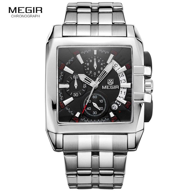 Megir ธุรกิจผู้ชายนาฬิกาควอตซ์แฟชั่นยี่ห้อ chronograph นาฬิกาข้อมือสำหรับ man hot hot สำหรับชายพร้อมปฏิทิน 2018-ใน นาฬิกาควอตซ์ จาก นาฬิกาข้อมือ บน AliExpress - 11.11_สิบเอ็ด สิบเอ็ดวันคนโสด 1