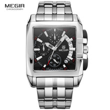 Megir new business men's quartz watches fashion brand chrono