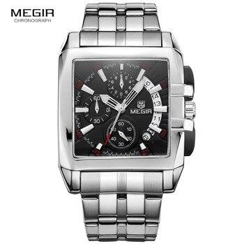 Megir new business men's quartz watches fashion brand chronograph wristwatch for man hot hour male with calendar 2018 - discount item  55% OFF Men's Watches