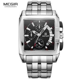Image 1 - Megir 새로운 비즈니스 남자 쿼츠 시계 패션 브랜드 크로노 그래프 손목 시계 남자에 대 한 뜨거운 시간 남성 달력 2018