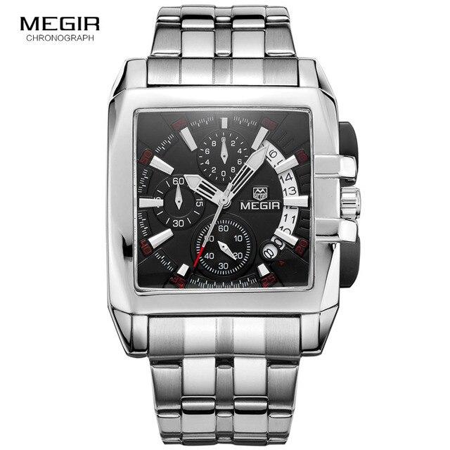 Megir 새로운 비즈니스 남자 쿼츠 시계 패션 브랜드 크로노 그래프 손목 시계 남자에 대 한 뜨거운 시간 남성 달력 2018
