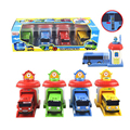 4pcs/set Scale model tayo the little bus children miniature bus plastic baby oyuncak garage tayo bus kids toys Christmas gift