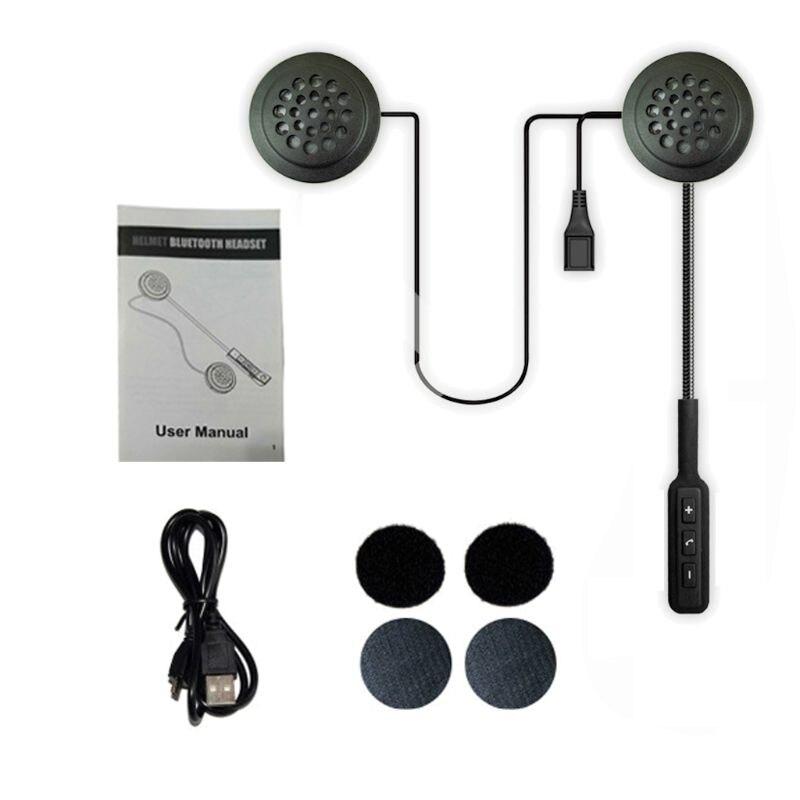 Wireless Motor Helmet Bluetooth Headset Motorcycle Helmet Earphone Dual Stereo Speaker Handsfree Music Headphone For MP3/4 Phone