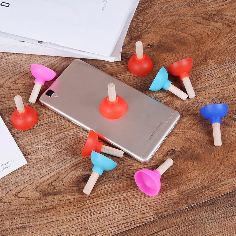 2 Pcs Für Kinder Kinder Erwachsene Spaß Plunger Halter Für Handy Geschenk Lustige Mini Pumpen Wc Telefon Sucker Stand Spielzeug Die Nieren NäHren Und Rheuma Lindern