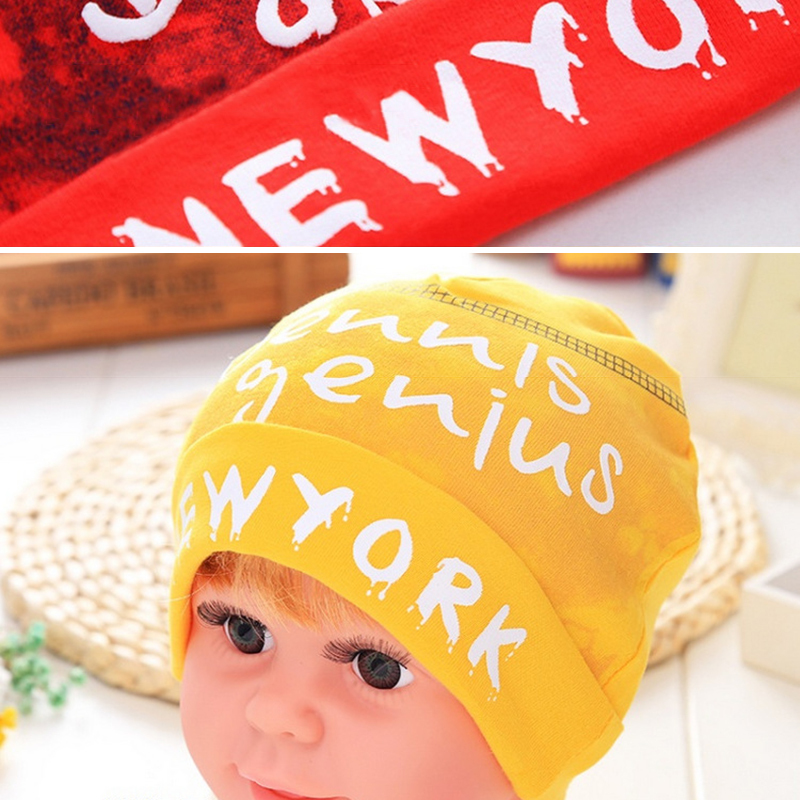 Winter Autumn Baby Knitted Warm Cotton Beanie winter Hat cap For Toddler Baby Double-layer Letter Prints Hat Baby Kid Girl
