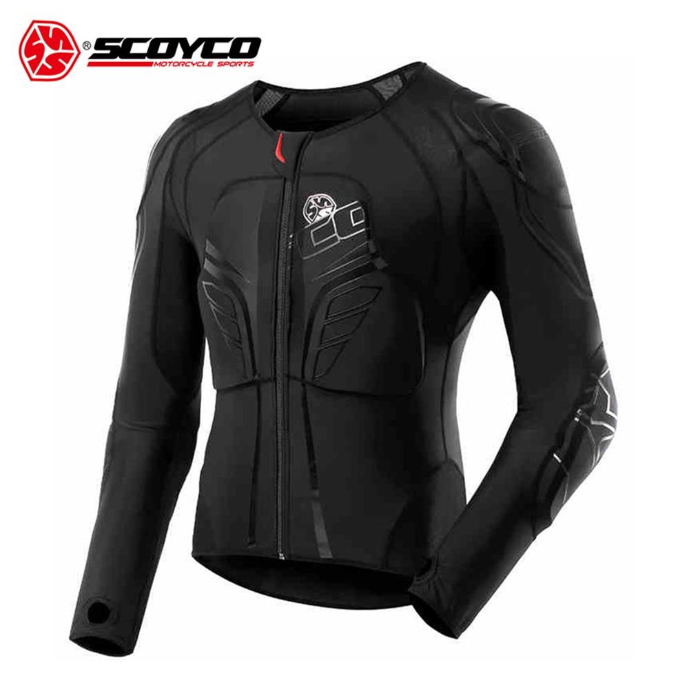 SCOYCO Men's Racing Motocross Protective Jacket Motocross Armor Racing Body Armor Black Motorcycle Jacket Soft Moto Armor M-3XL scoyco am05 racing motorcycle body armor protector black size l
