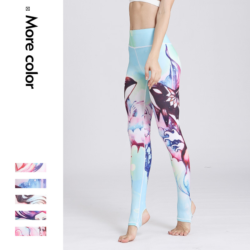 Printed Leggings for Women Colorful Pet Dog Footprint 3//4 High Waist Yoga Pants Sport Gym Leggings Workout