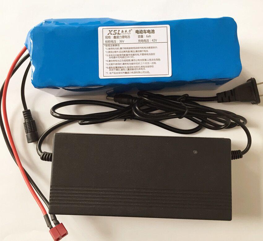 36 V 6Ah (10S3P) batteries rechargeables, changement de vélos, batterie de voiture électrique, batterie au lithium 42 V + cherger