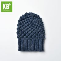 SALE KBB Christmas SeasonalComfy Deep Blue Croquet Pattern Designer Acrylic Material Warm Winter Hat Beanie